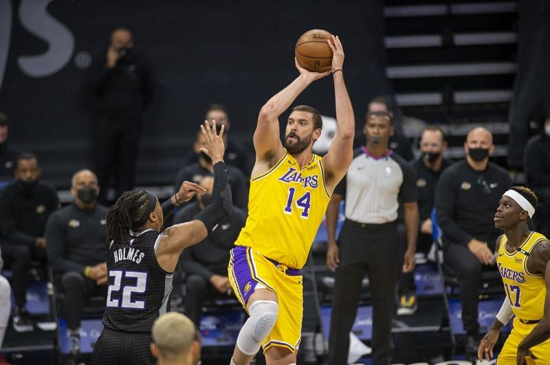 Marc Gasol with the LA Lakers in 2021 [Source: Los Angeles Times]
