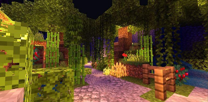 Minecraft shaders (Image via u/Toxiecx on Reddit)