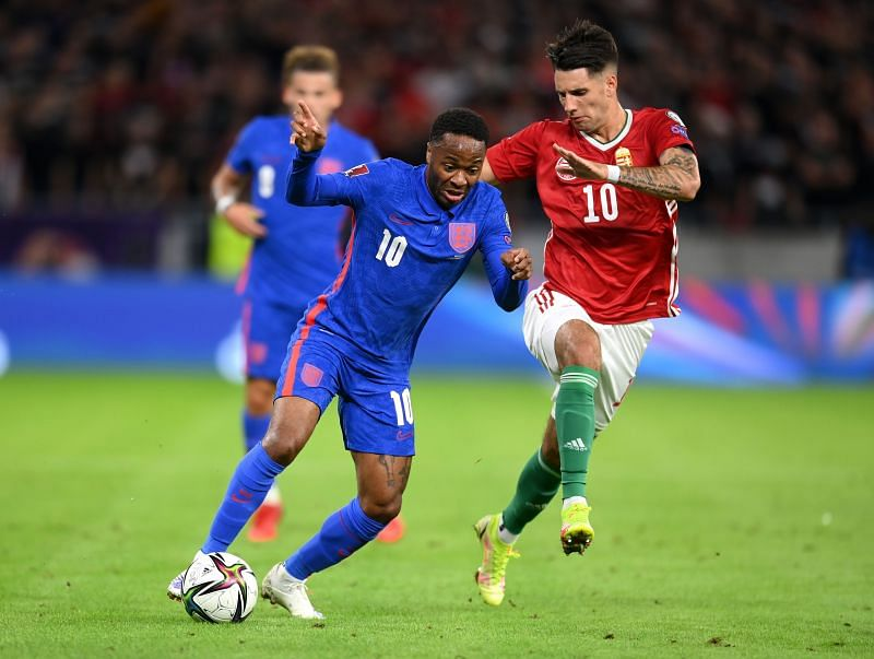 Raheem Sterling opened the scoring for England in a dominant display tonight