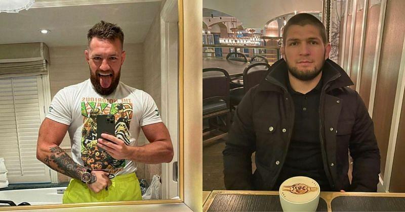 Conor McGregor (left) and Khabib Nurmagomedov (right) Image Credit : @thenotoriousmma & @khabib_nurmagomedov via Instagram