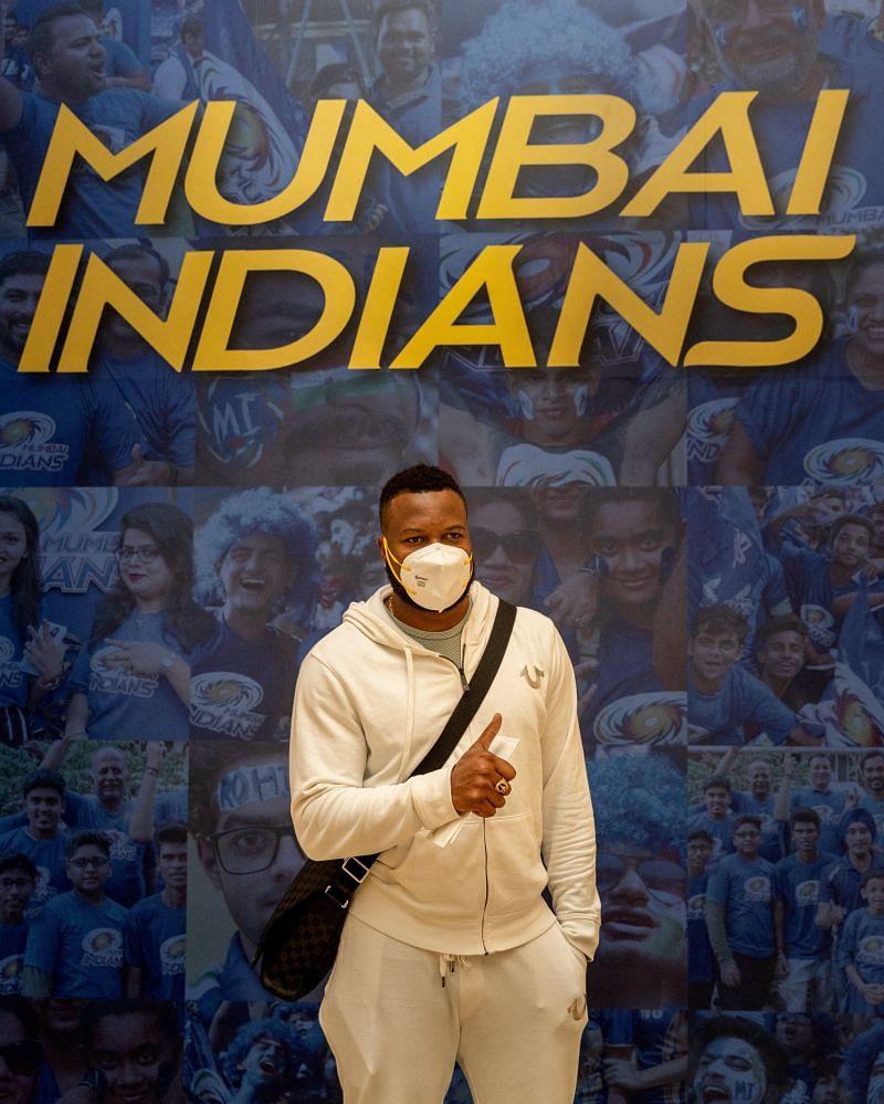 Mumbai Indians' star player Kieron Pollard landed in Abu Dhabi on September 16.