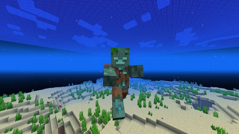 Drowned Minecraft mob (Image via Minecraft)