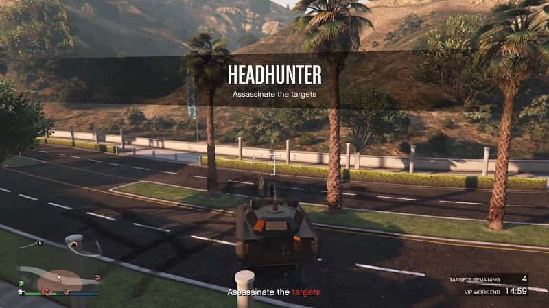 Headhunter is the recommended as it is the easiest to access (Image via Rockstar Games)
