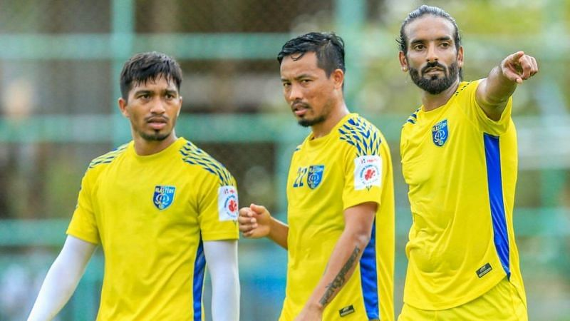 Kerala Blasters are aiming to win their first trophy. Image Credits: Twitter/@KeralaBlasters