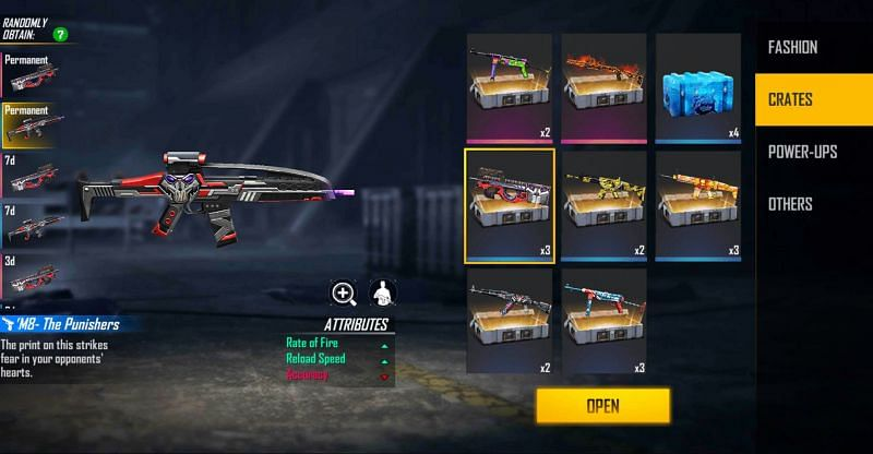 The x Punishers Weapon Loot Crate is the reward (Image via Free Fire)