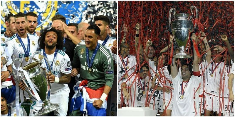 Real Madrid and AC Milan are European royalty