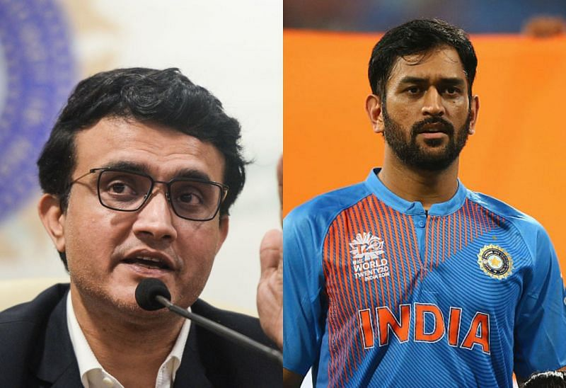 Sourav Ganguly (L) said MS Dhoni has a good record in T20s with both India and CSK