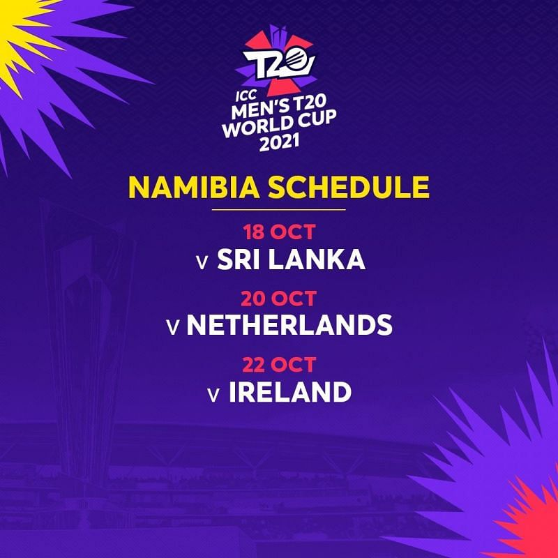 T20 world cup 2021 Schedule- Namibia