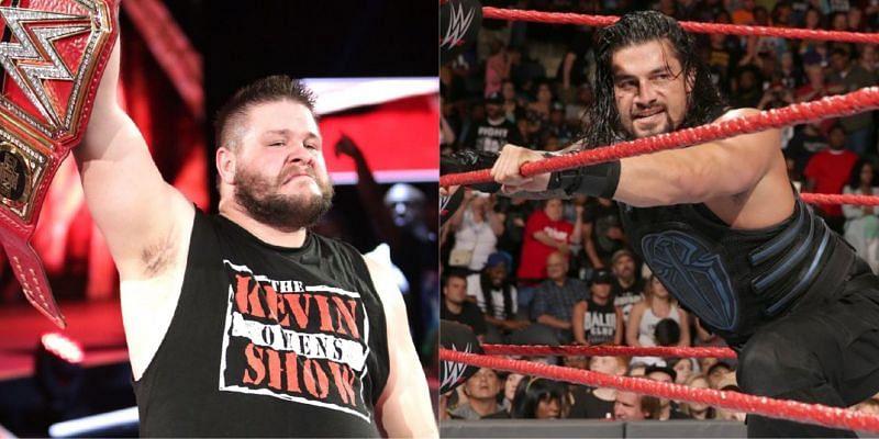 WWE Raw के एक एपिसोड में रोमन रेंस और केविन ओवेंस के बीच मैच हुआ था