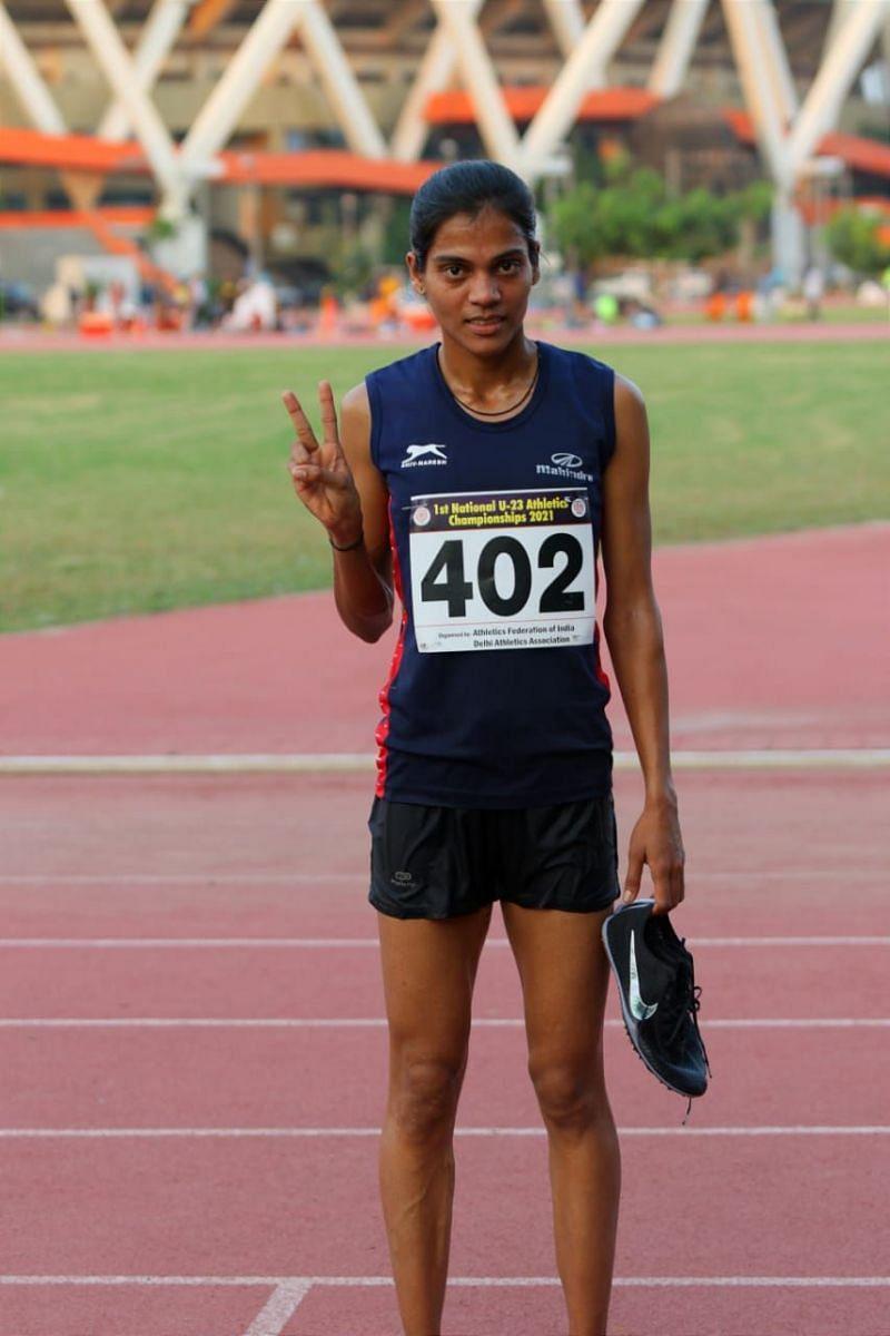 3000m Steeplechase winner Komal Chandrakant Jagdale