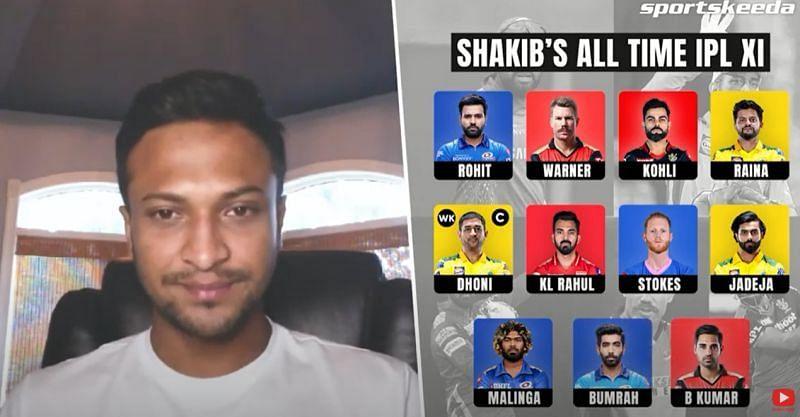 Shakib Al Hasan's all-time IPL XI