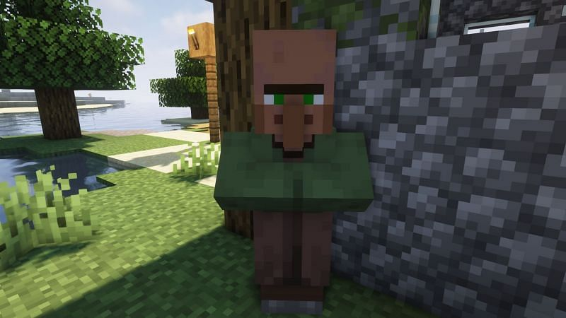 A Nitwit in a village (Image via Minecraft)