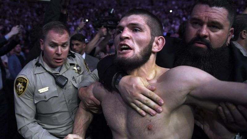 Wild scenes followed the Khabib Nurmagomedov vs. Conor McGregor fight at UFC 229 as neither man seemed happy to stop their clash