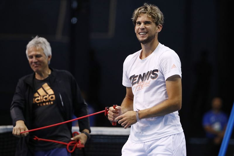 Dominic Thiem says his focus is on getting back to playing tennis again.