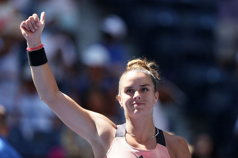 Maira Sakkai was in red-hot form on serve against <a href='https://www.sportskeeda.com/player/petra-kvitova' target='_blank' rel='noopener noreferrer'>Petra Kvitova</a>.