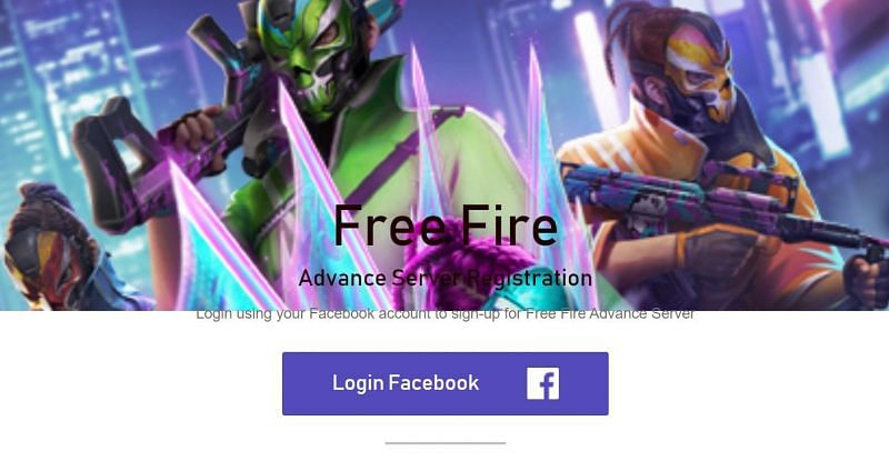 """Players need to click on the """"Login Facebook"""" option to begin their registration (Image via Garena Free Fire)"""