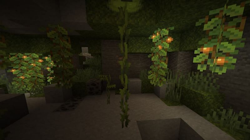 Glow berries are expected to release in full soon as part of the rest of Minecraft's Caves & Cliffs update (Image via Mojang)