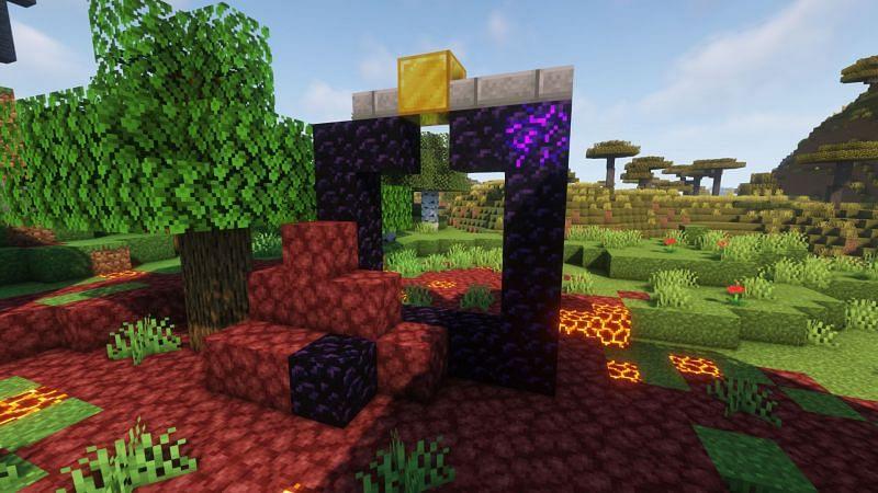 Ruined portal (Image via Minecraft)