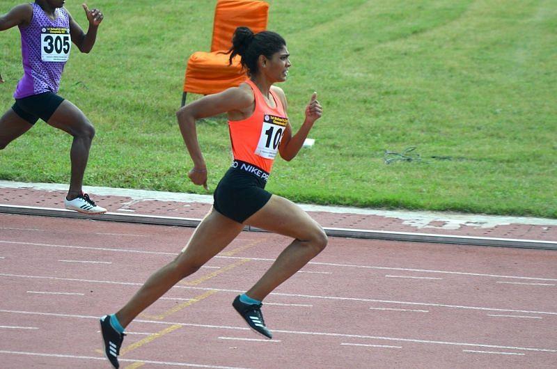 Dandi Jyothika Sri won the women's 400m