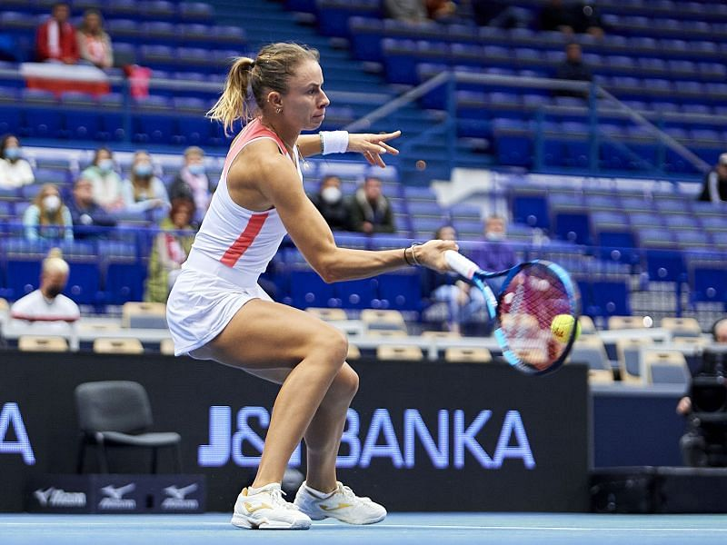 Magda Linette has already played three matches in Ostrava this week.