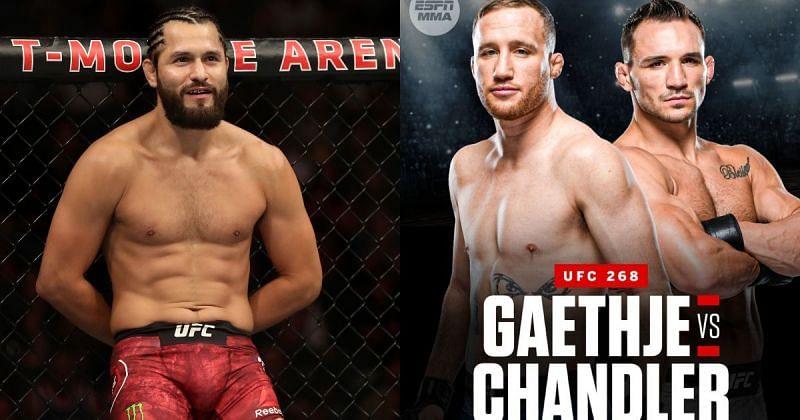 Jorge Masvidal (left), UFC 268: Justin Gaethje vs. Michael Chandler (right; image via @ESPNMMA on Twitter)