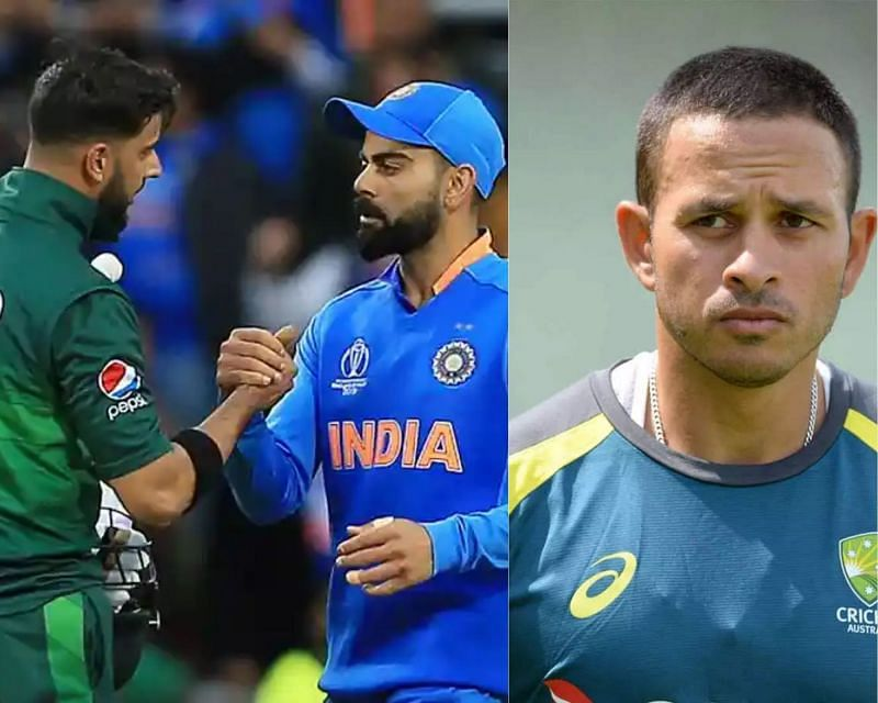 Usman Khawaja (R) hopes to see India-Pakistan play each other more often