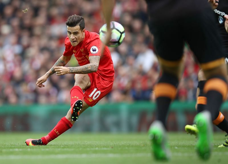 There are not many better sights than Coutinho curling a football into the goal