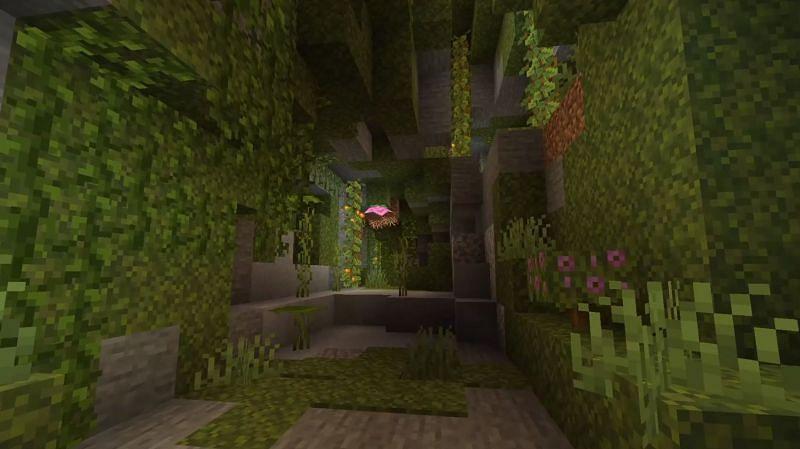 A lush caves biome (Image via SpigotMC)