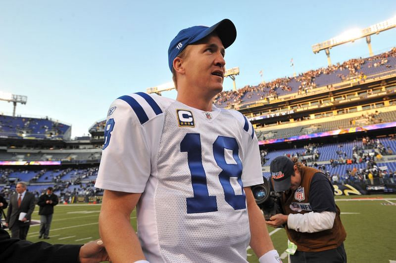 Peyton Manning as a member of the Indianapolis Colts