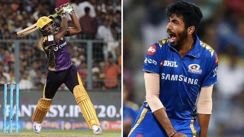 Bumrah vs Russell will be one of the player battles in the IPL game between Mumbai and Kolkata