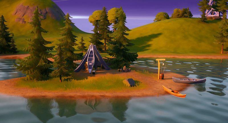 Lake Canoe in Fortnite Chapter 2 Season 8 (Image via Epic Games)