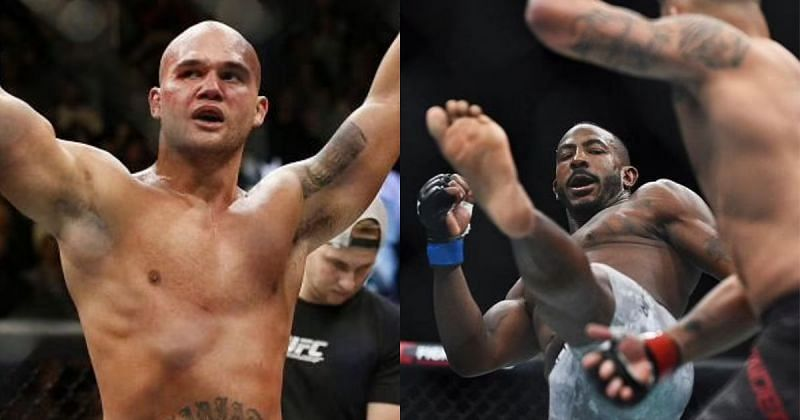 Robbie Lawler (L) gives his take on banning oblique kicks from MMA