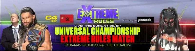 Reigns vs Balor will be an Extreme Rules match
