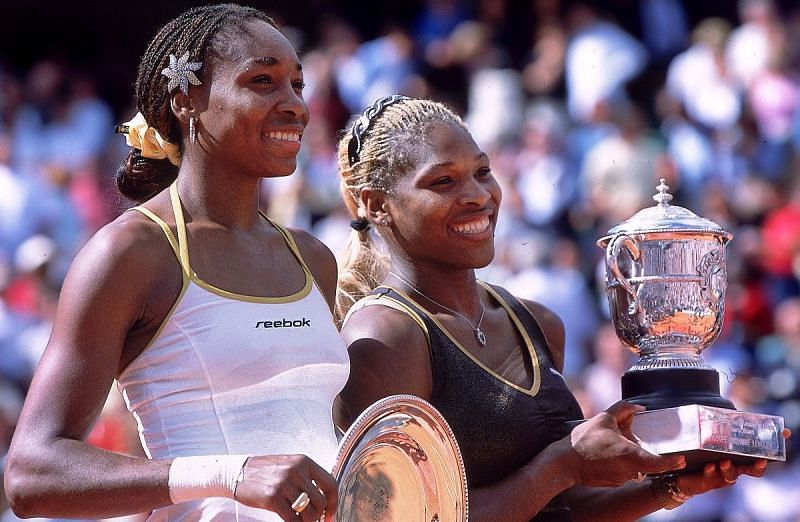 Venus Williams and Serena William at Roland Garros 2002