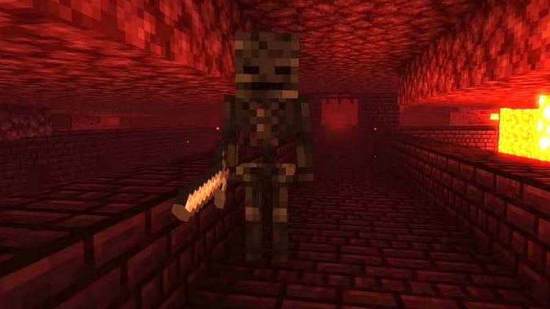 Minecraft's wither skeletons drop a variety of items when killed (Image via Minecraft)