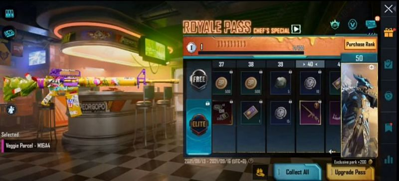RP rank 40 reward in PUBG Mobile M3 RP (Image via Mad Tamizha YT / YouTube)