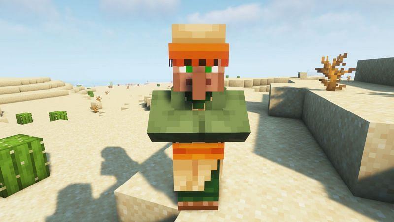 A desert nitwit villager (Image via Minecraft)