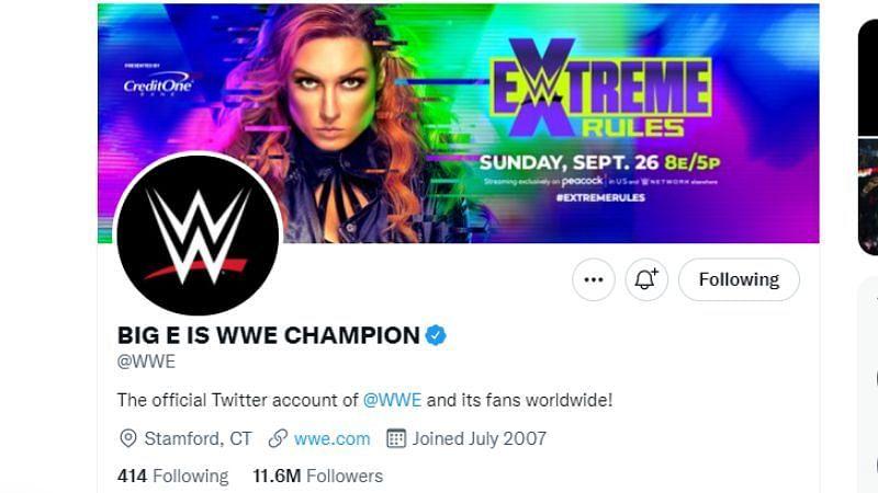WWE's new Twitter name