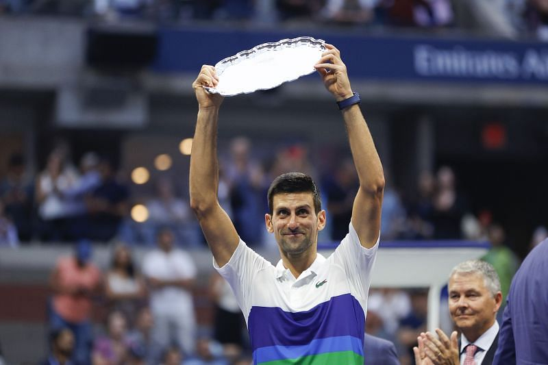 Novak Djokovic at the 2021 US Open final