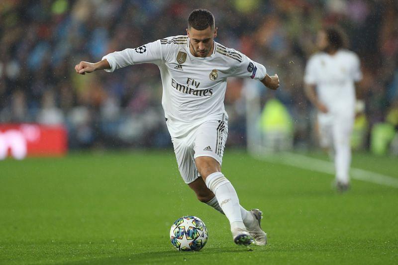 Eden Hazard has revealed that he is happy at the Santiago Bernabeu.
