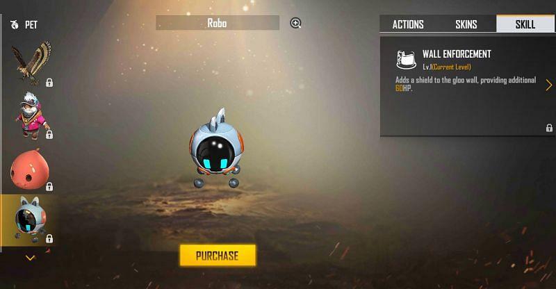 Robo and its ability (Image via Free Fire)