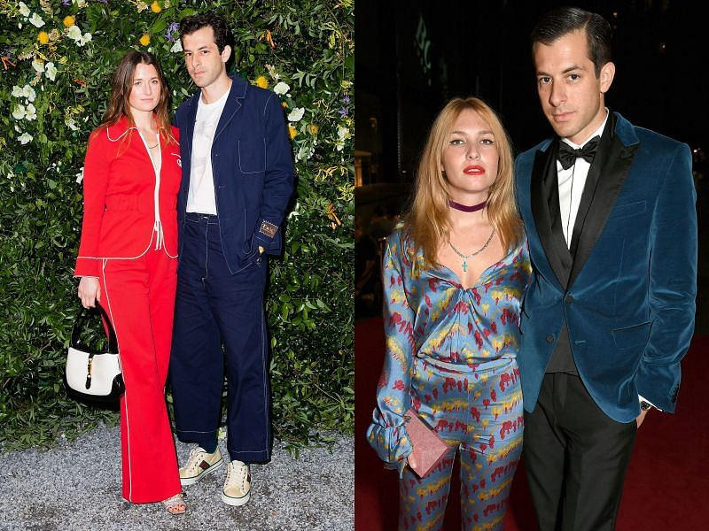 Mark Ronson with wife Grace Gummer, and with ex-wife Joséphine de La Baume (Image via Carl Timpone, David Benthal, & Joe Schildhorn/BFA.COM, and Richard Young/REX/Shutterstock)