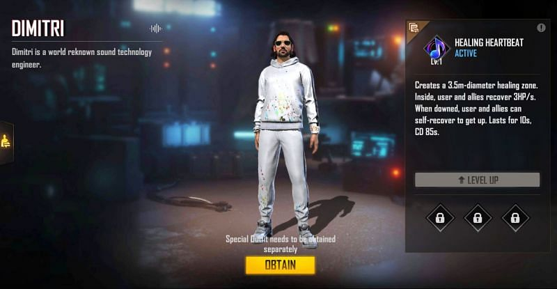 Dimitri can be purchased for 599 diamonds (Image via Free Fire)