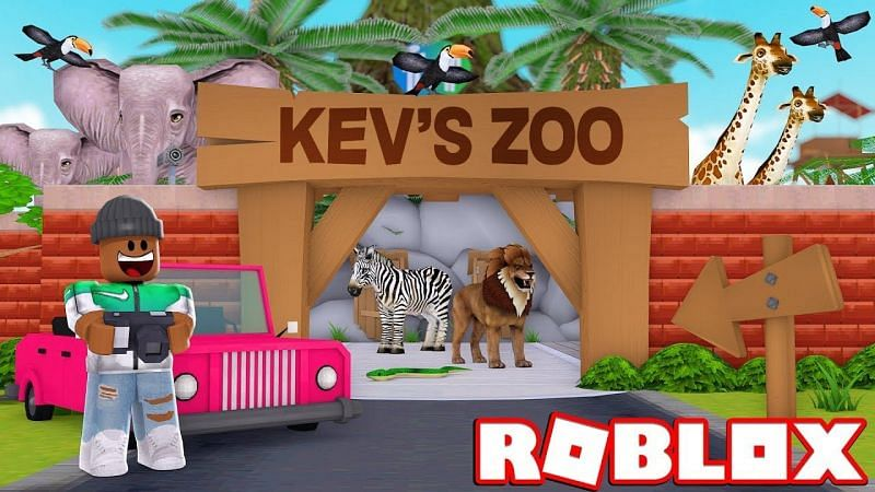 Even lions and zebras can be added to a farm in Roblox Zoo Tycoon (Image via GamingWithKev)