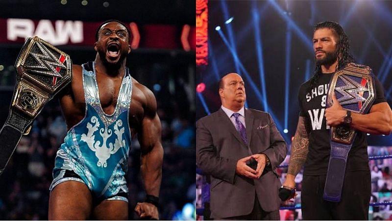 WWE चैंपियन बिग और यूनिवर्सल चैंपियन रोमन रेंस