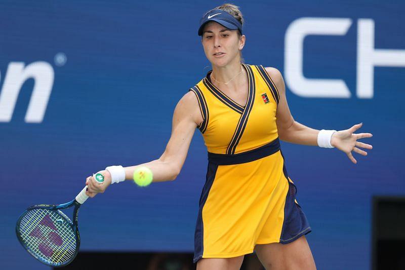 Belinda Bencic in action during the 2021 US Open