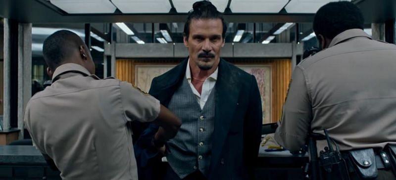 Frank Grillo of Captain America: Winter Soldier fame portrays Teddy Murretto in Copshop (Image via STXfilms)