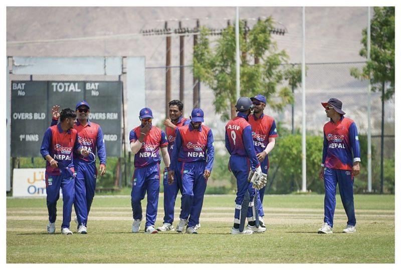 नेपाल ने संदीप लामिचाने की गेंदबाजी की बदौलत जीता मैच (Photo - Nepal Cricket)