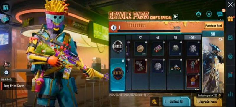 RP rank 50 reward in PUBG Mobile M3 RP (Image via Mad Tamizha YT / YouTube)