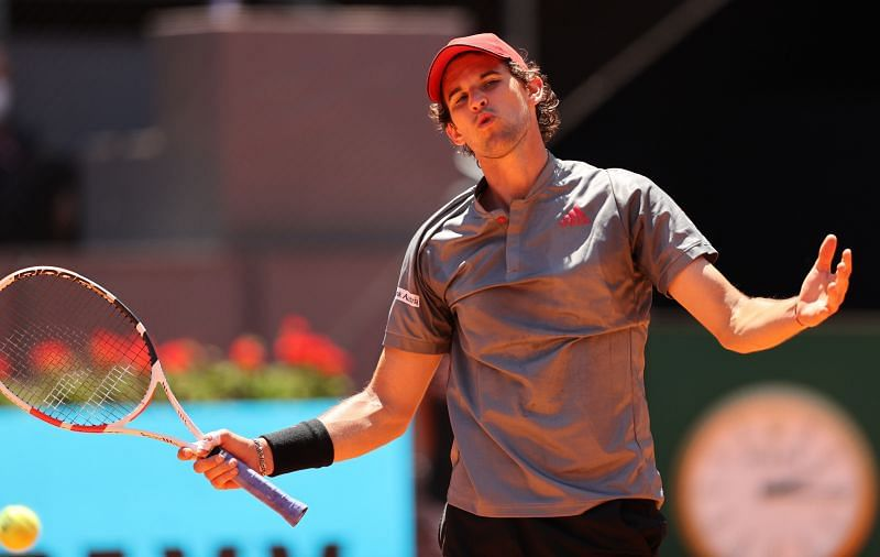 Dominic Thiem at the 2021 Mutua Madrid Open